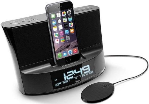 huge discount 5a082 a4dfd iLuv TIMESHAKERABLK TimeShaker Dual Alarm Clock Lightning Dock ...