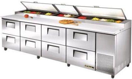 True TPPD Refrigerated Pizza Prep Table Doors And - True refrigerated prep table