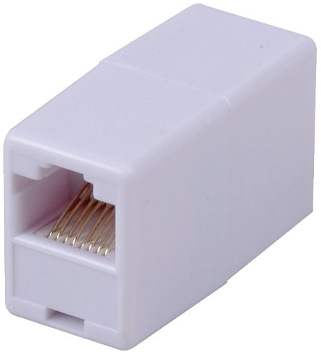 RCA TPH550R RJ45 Coupler - White, Connects 2 Cat5/Cat6 cables to make a longer cable, RJ45 In-Line Coupler, An economical way to extend an Ethernet cable, UPC 044476060465 (TPH550R TP-H550R)