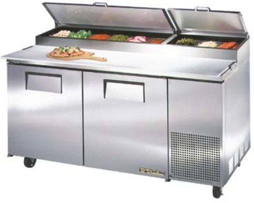 True TPP-67 Pizza Prep Table Refrigerator, 20.6 Cu.Ft., 67-1/4