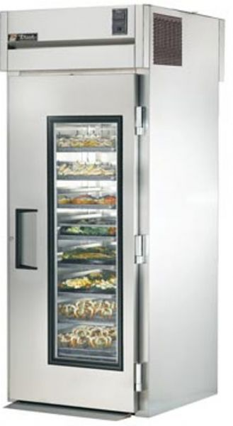 True TR1RRT-1G-1S Roll-Thru Glass Front / Solid Rear Door Refrigerator,