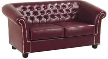 Charmant Office Star TSX4602 Traditional Reception Furniture Oxblood Loveseat, Thick  Foam Filled Cushions, Extra Wide Seating Area, Diamond Shaped Button  Tufting, ...