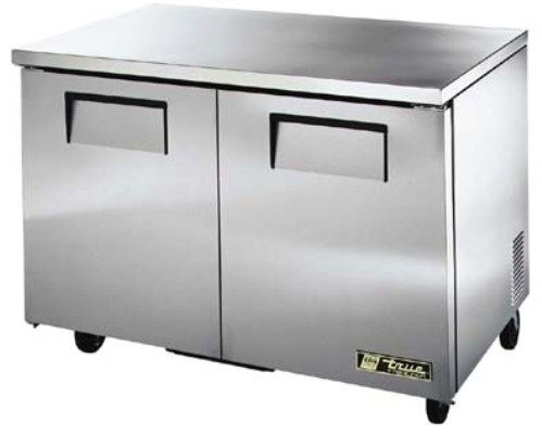 True TUCFLP Low Profile Undercounter Freezer F Cu Ft - 10 ft stainless steel table