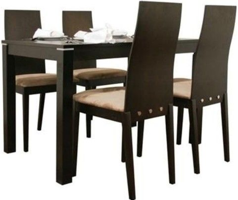 Wholesale Interiors TV 4684BRH DW Lambert Dark Brown 5 Piece Modern Dining  Set, Contemporary Dining Set, 5 Pieces   1 Table, 4 Chairs, ...