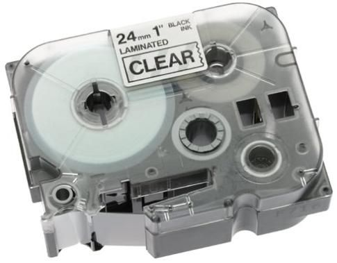 Brother TZ151 P-Touch Label Tape, Printing Technology Direct Thermal, Black Clear Tape (TZ 151 TZ-151)