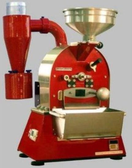 Coffee-Tech Torrefattore Semi, Semi-Automatic Commercial Coffee Roaster Roasting Machine, 1 Kg of green coffee Batch Capacity, 17-22 minutes (after preheat) Roasting Cycle, 2 kg per hour Roasting Output, Manual operation, default air flow setting Operation, 230 Volts/50 Hz. 1950 Watt Electrical, 1/8 HP, heavy duty Drum Motor, Electrical custom-made high temp. heating elements (3X600 watt) Heating Method, In-drum Cooling (CoffeeTech Torrefattore-Semi TorrefattoreSemi TorrefatoreSemi