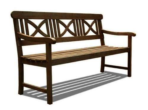 Cool Vifah V1299 Renaissance Outdoor Hand Scraped Hardwood Bench Ocoug Best Dining Table And Chair Ideas Images Ocougorg