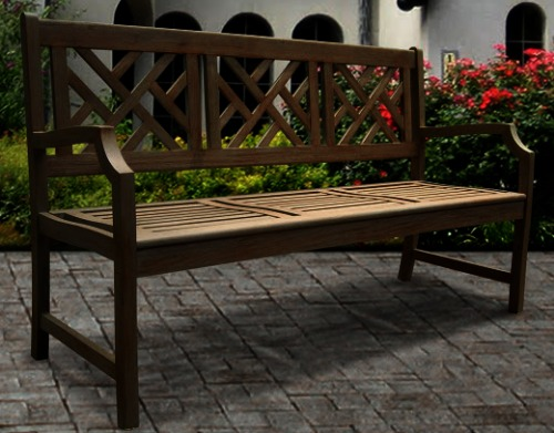Super Vifah V1302 Renaissance Outdoor Hand Scraped Hardwood Bench Ocoug Best Dining Table And Chair Ideas Images Ocougorg