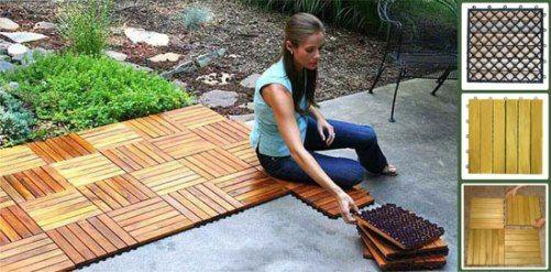 Exceptional VIFAH V353 Premium Plantation Teak, Six Horizontal Slats Per Tile, Box Of  10 Tiles, Covers 10 Sqft., Outdoor Covering For Patios, Decks, Balconies,  Porches, ...