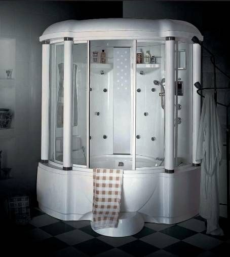 Wasauna vicenza luxury steam shower tub combination unit 2 persons capacity 18 jets 3kw - Luxury steam showers ...