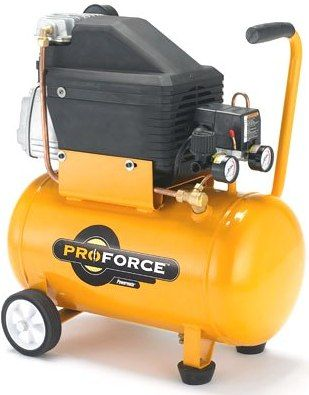 Coleman Powermate Vpp0200604 Pro Force Electric Portable Direct Drive Air Compressor 6 Gallon Tank Oil Lubricated