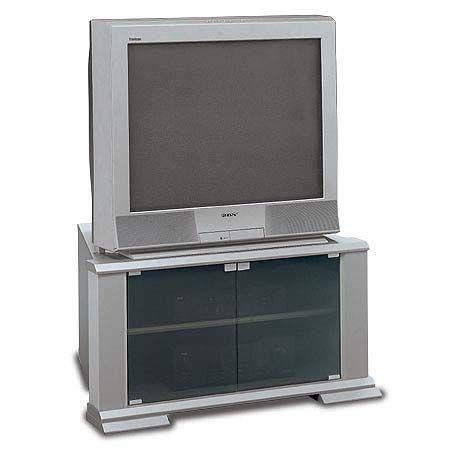 Bush VS47734 TV Stand, Universal Collection, Silver/Dark Silver (VS 47734,  VS-47734, 47734)