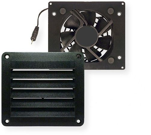 Cool Components VS-HFL HiFlo Lite Vent; Black; Quick and Easy Installation; Quiet and Efficient Operation; Aggressively Circulates Air in a Cabinet or Enclosure; Uses Variable Voltage Power Supply to Adjust Fan Speed based on the Application; Compatible with the Temperature Controllers (TC- BSC, TC-ALT and TC-AC); UPC 721762431887 (VSHFL VS-HFL VSHFLBLK VS-HFL-BLK VS-HFLHIFLO VS-HFL-HIFLO)