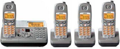 8GHz Digital 4 Handset Cordless Answering Phone System, Intercom