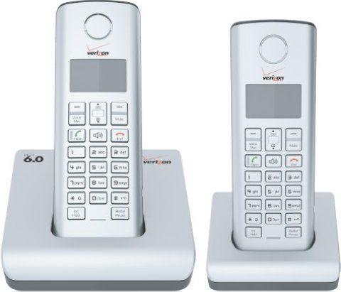 Verizon 100 2 Expandable Digital Cordless Phone With 2 Handsets Dect 6 0 1 9 Ghz Frequency Band