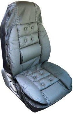 Wagan 2248 Luxury Seat Cover Lumbar Support Black Wedge Shaped Padded