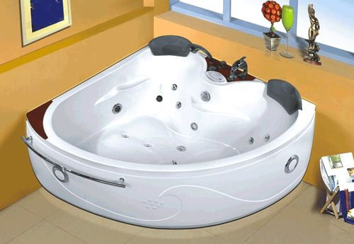 Wasauna WAS 1553 2 Person Bathtub, 21 Jet Bathtub, Retractable Hand Shower,  Dolphin Faucet (WAS1553 WAS ...