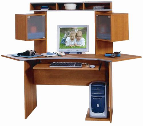 bush wc02404 corner desk and hutch planked maple metallic silver office revolution collection wc bush desk hutch office