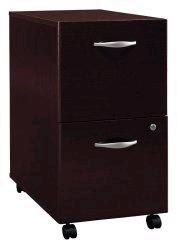 Bush WC12952; Corsa Series C Furniture Two Drawer Pedestal, Rolls under any desk shell, Casters allow easy mobility, File fits under desks (WC-12952 WC 12952)