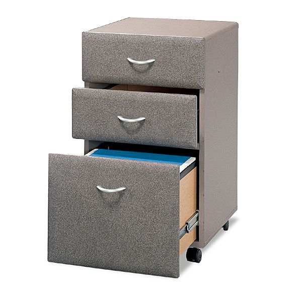 bush wc14553su three drawer file assembled pewter two