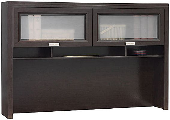 Bush Wc21831 03 Hutch For L Desk Tuxedo Collection Attaches On Left Or Right Side Of May Be Configured With Wc21830 And