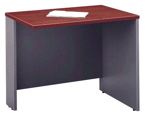 Bush WC24418 Corsa Hansen Cherry 36 Inch Return Bridge, Scratch and stain resistant Diamond Coat top surface, Mounts to any Series C desk as right or left return, Wire access and concealment with a modesty panel grommet, PVC edge banding protects desk from bumps and collisions (WC-24418 WC 24418)