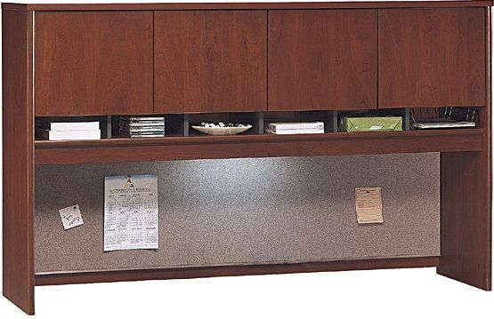 Bush Wc24477 Corsa Hansen Cherry 72 Inch 4 Door Hutch Can