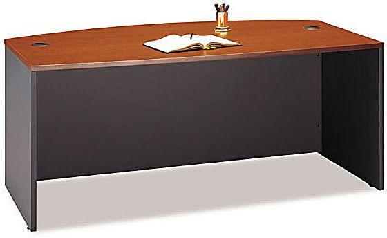 Bush WC48546 Bow Front Desk Office Furniture, 72\