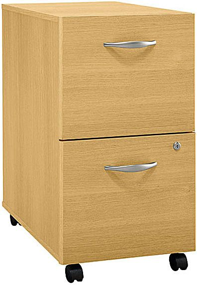 Attractive Bush WC60352 File Cabinet 2 Drawer, Casters Allow Easy Mobility, File Fits Under  Desks, Each Drawer Holds Letter, Legal And A4 Size Files, Each Drawer Locks  ...