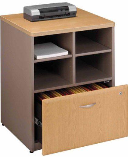 Bush WC64323 Series A Light Oak Storage Cabinet, Wire management ...