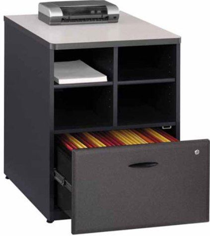 Delicieux Bush WC84823 Series A Slate Storage Cabinet, 4 Cubbies For Storage,  Lockable File Drawer For Extra Security, Lateral File Drawer Holds Letter,  ...