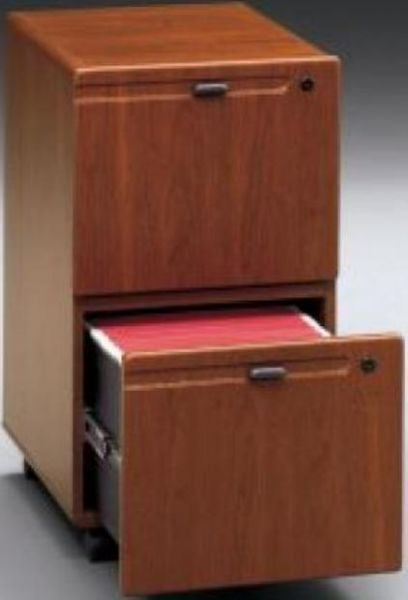 Bush Wc90452su Series A 2 Drawer Mobile File Cabinet Hansen Cherry Galax Heavy Duty Metal Slides With Full Extension Ball Bearing Suspension