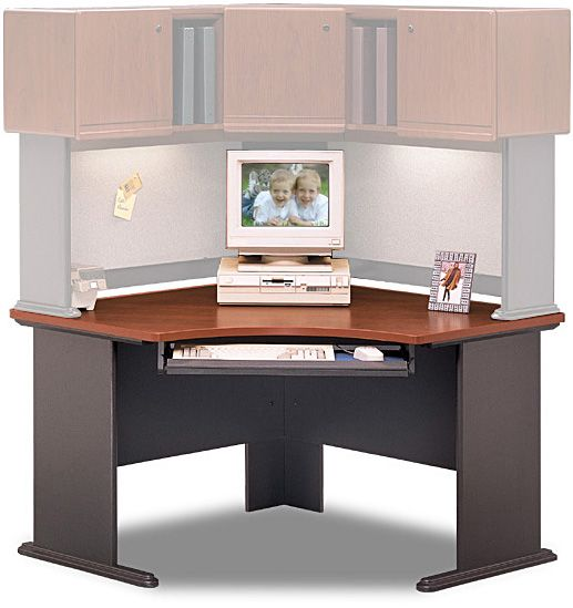series corner desk. Bush WC90466A Corner Desk, Advantage Series-Dark Cherry Collection, Hansen Finish (WC 90466A, WC-90466A, WC90466, Series Desk
