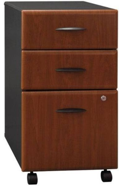Bush WC94453 Three Drawer File, Two Box Drawers Hold Small Office Supplies,  File Drawer Opens On Full Extension Slides, One Lock Secures Bottom Two  Drawers, ...