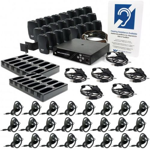 Williams Sound FM 557-24 PRO D FM Plus Large-area Dual FM and Wi-Fi assistive listening system with 24 FM R37 receivers, Features Dante input, coaxial cable and rack panel kit for professional installation, Replaces PPA 457-24 NET D PRO, Includes Dante Input and 24 FM R37 Receivers; 16-bit DAC provides a 48Khz sample rate; 10 segment LED bar graph; True professional audio interface (WILLIAMSSOUNDFM55724PROD WILLIAMS SOUND FM-557-24-PRO-D PRO DANTE PLUS ASSISTIVE LISTENING SYSTEMS)