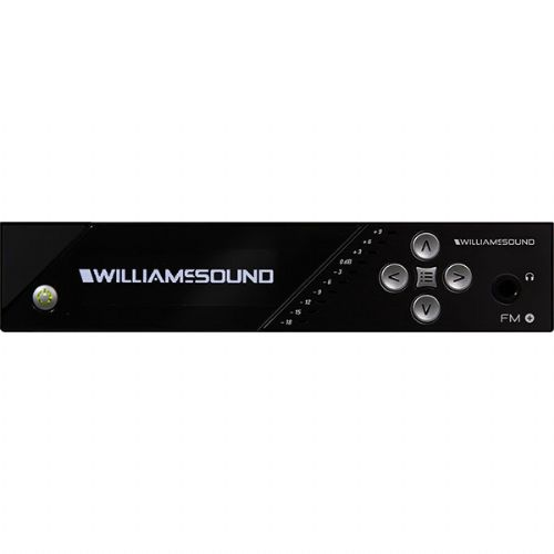 Williams Sound FM T55 FM Plus, Large-area Dual FM and Wi-Fi base transmitter with network control, OLED display, DSP audio processing, analog XLR input and line output, Includes, 1 Antenna, 1 Power Supply, 1 Audio Cable, 1 Line Cord, FM Operates In The 72-76 MHz band, Replaces PPA T45/PPA T45 NET; Professional audio inputs: 1/4