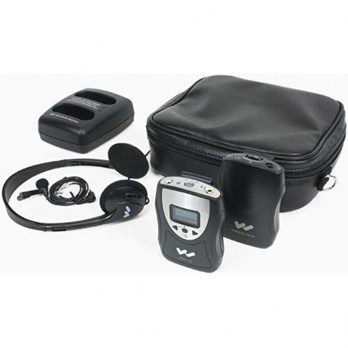 Williams Sound PFM PRO RCH Rechargeable Personal FM System (72-76 MHz), Includes, 1 Transmitter, 1 FM Receiver, 1 Mini Lapel Clip Microphone, 1 Folding Headphone, 1 Single Isolation Earphone, 1 2-Bay Charger, 2 Rechargeable NiMH Batteries, 2 Belt Clip, 1 Leatherette Carry Case; Improves listening for individuals or groups; Signal-to-noise ratio: 65dB (decibel) (typical) transmitted; UPC 702142499062 (WILLIAMSSOUNDPFMPRORCH WILLIAMS SOUND PFM PRO RCH PERSONAL LISTENING SYSTEM)