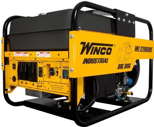 Winco Generators 24012-012 Model WL12000HE 50AMP Industrial Big Dog Portable Generator, 12000 Starting Watts, 10800 Running Watts, 90 Running Amps @120 VAC, 45 Running Amps @240 VAC, Capacitor Voltage Regulator, 45 Amp Main Circuit Breaker, Bonded Neutral, Honda GX630 Engine, 5 HP Motor Starting (Code G), Electric Engine Starter (WINCO24012012 24012012 24012 012 WL-12000HE WL12000-HE)