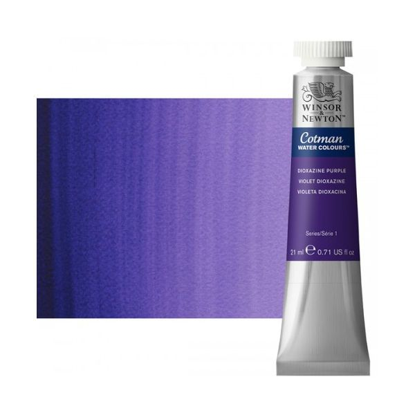 Winsor & Newton 0308231 Cotman, Watercolor Dioxazine Purple 21ml; Unrivalled brilliant color due to a revolutionary transparent binder, single, highest quality pigments, and high pigment strength; Genuine cadmiums and cobalts; Cotman watercolors offer optimal transparency with excellent tinting strength and working properties; Dimensions 0.79