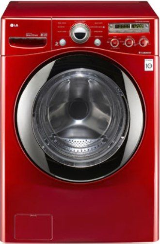 Lg Wm2350hrc Front Load Electric Washer Wild Cherry Red
