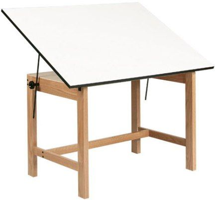 Alvin WOB48 Titan Natural Finish Oak Office Height Drafting Table, Natural  Oak Finish Protected By 2 Coats Of Clear Lacquer, Through Bolt Hardware For  Years ...