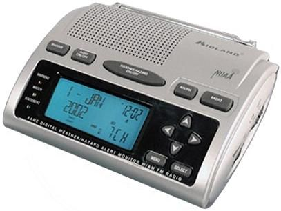 midland wr 300 am fm alarm clock radio with s a m e weather all hazard alerts digital pll. Black Bedroom Furniture Sets. Home Design Ideas