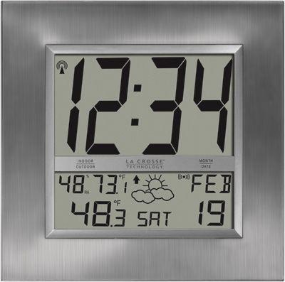 la crosse technology ws8349u atomic digital wall clock with