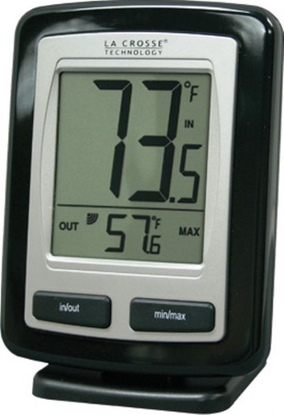 La Crosse Technology WS-9009BK-IT Wireless Weather Station Thermometer, Up to 260 feet Transmission range, -19.9°F to 140°F Wireless outdoor temperature range, 14.1°F to 140°F Indoor temperature range, Large Easy to Read Display, Records MIN & MAX Temperature, Low Battery Indicator, Wireless Outdoor Temperature °F, Monitors Indoor Temperature °F, UPC 757456988580 (WS9009BKIT WS-9009BK-IT WS 9009BK IT)