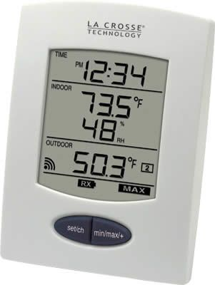 La Crosse Technology WS-9029U-IT-CBP Wireless Weather Station with Digital Time, IN Temp & Humidity, OUT Temp, Wireless Outdoor Temperature (°F or °C), Monitors Indoor Humidity (%RH), Monitors Indoor Temperature (°F or °C), Records MIN/MAX Humidity & Temperature, 12/24 Hour Time, UPC 757456992242 (WS9029UITCBP WS9029U-ITCBP WS-9029UIT-CBP WS-9029U-IT WS-9029U)
