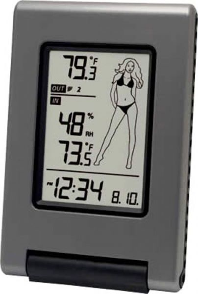 La Crosse Technology WS-9740U-IT-NL Wireless Temperature Station with Advanced Icon, 14.1°F to 139.8°F ; -10°C to +59.9°C Indoor Temperature Range, -39.8°F to +139.8°F ; -39.9°C to +59.9°C Outdoor Temperature Range, 1 - 99% Indoor Humidity, 330 Feet Transmission Range, Multiple Icons- suggest what to wear based on OUT temperature, Wireless Outdoor Temperature, UPC 757456991511 (WS-9740U-IT-NL WS9740UITNL WS 9740U IT NL)