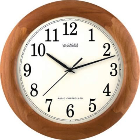 La Crosse Technology WT-3122J Atomic Wall Clock, 12.5