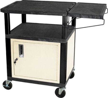 Luxor Wt34cc Coffee Cart With Cabinet Black Putty Includes A Locking Cabinet For Storage Made