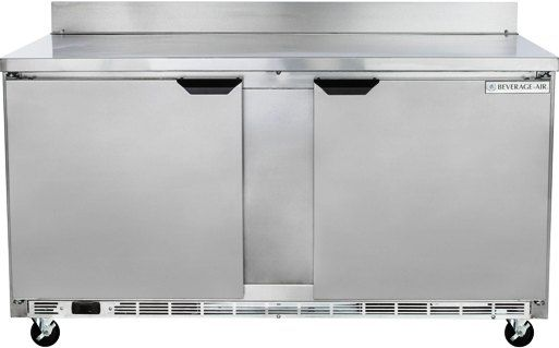 Beverage Air WTF60AHC Two Door Worktop Freezer - 60