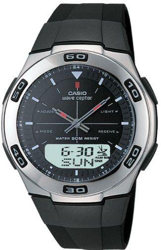 casio wva105ha 1av refurbished black ana digi waveceptor watch with rh salestores com Casio Keyboard Owner's Manual casio wave ceptor 2735 manual